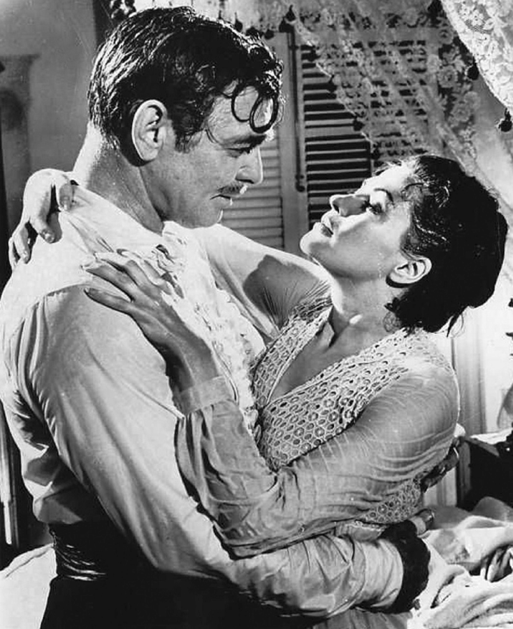 Yvonne DeCarlo and Clark Gable