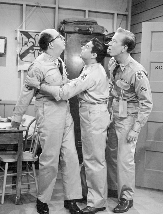 Phil Silvers, Harvey Lembeck, and Allan Melvin
