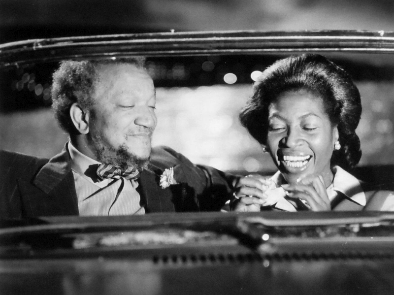 Redd Foxx (Fred Sanford) and Lynne Hamilton (Donna) from Sanford and Son