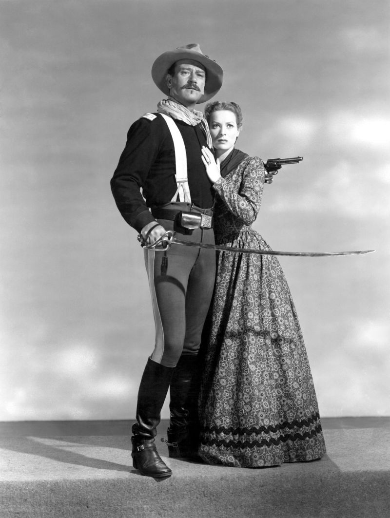 Maureen O'Hara and John Wayne - Rio Grande Publicity Still