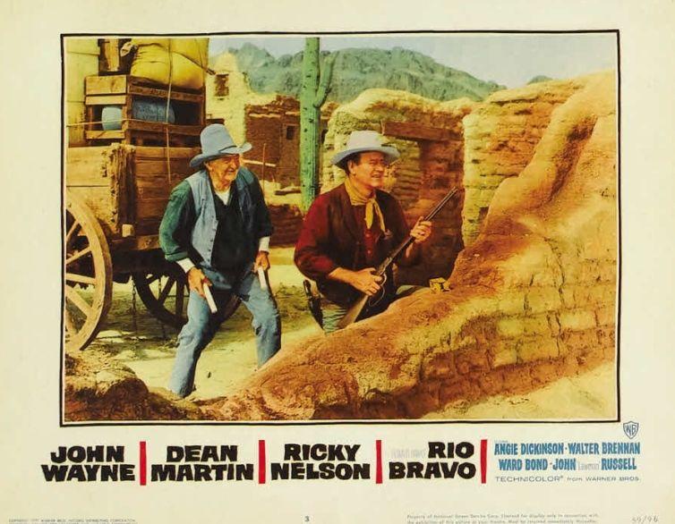 Walter Brennan and John Wayne, Rio Bravo Lobby Card