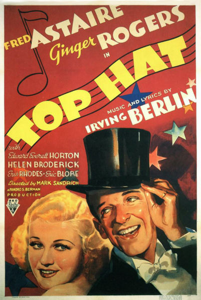 Ginger Rogers and Fred Astaire Top Hat