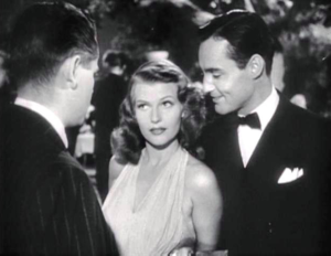 Rita Hayworth, Glenn Ford and Mark Roberts in Gilda