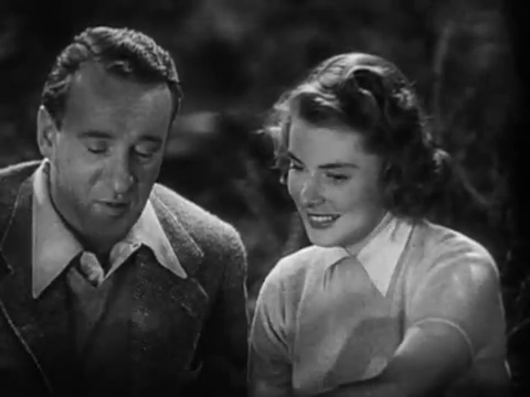 George Sanders and Ingrid Bergman in Rage in Heaven
