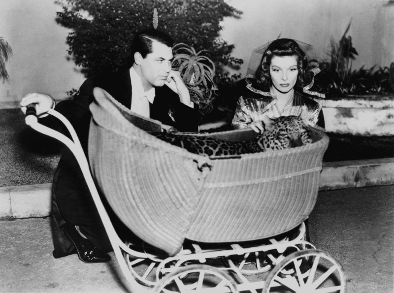 """Katharine Hepburn, """"Baby,"""" and Cary Grant - Bringing Up Baby"""