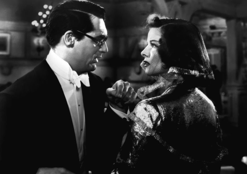 Katharine Hepburn and Cary Grant, Bringing Up Baby Scene