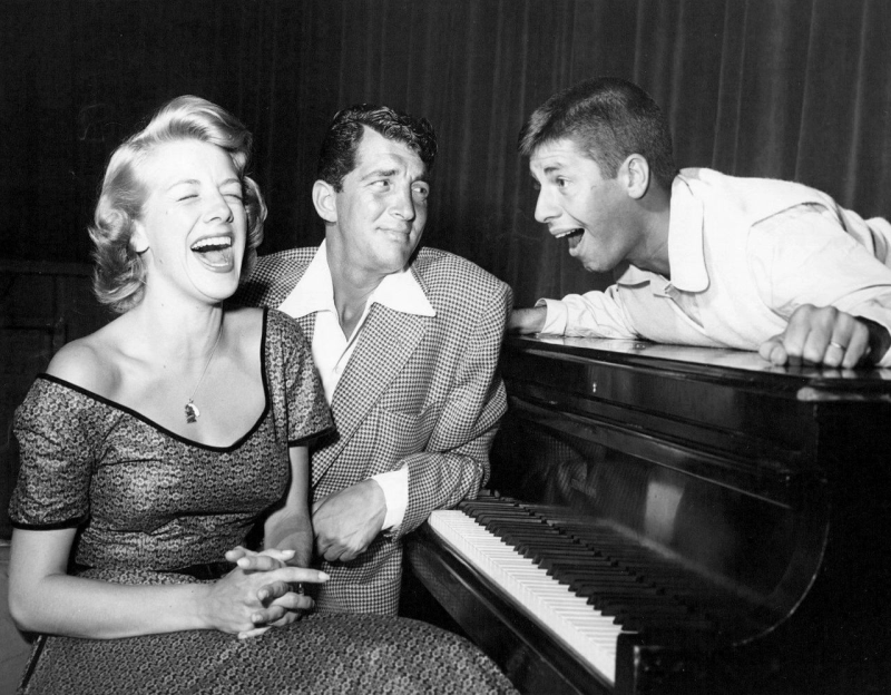 Rosemary Clooney, Dean Martin, and Jerry Lewis on The Colgate Comedy Hour