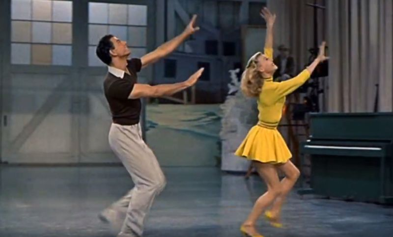 Vera-Ellen and John Brascia Tap Dancing in White Christmas