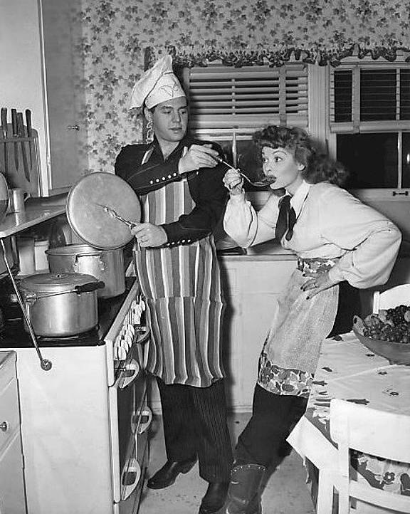 Desi Arnaz and Lucille Ball