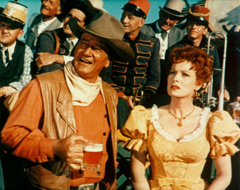 John Wayne and Maureen O'Hara McLintock