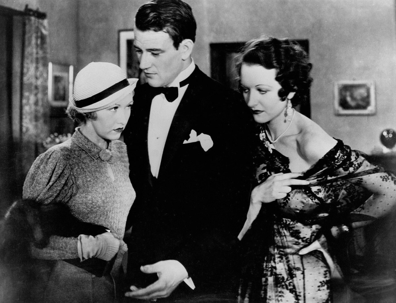 Evalyn Knapp, John Wayne, and Natalie Kingston in His Private Secretary