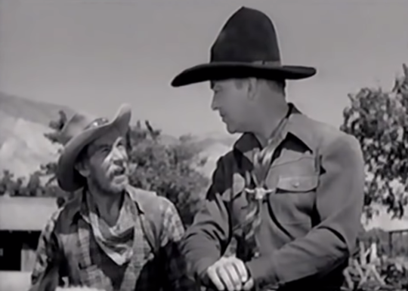 Andy Clyde and William Boyd in the 1941 Hopalong Cassidy film, Outlaws of the Desert