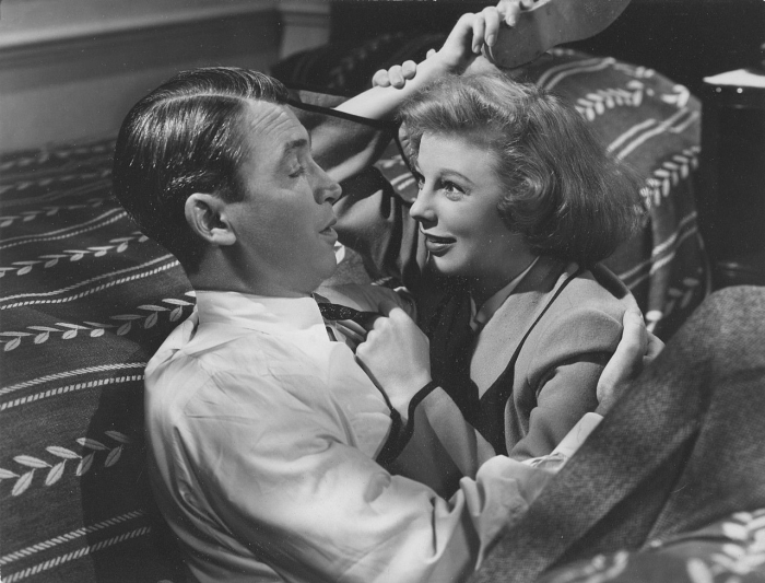 June Allyson and James Stewart in The Stratton Story