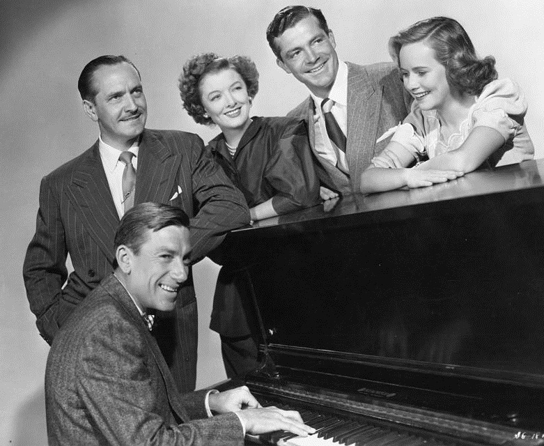 The Best Years of Our Lives: Frederic March, Myrna Loy, Dana Andrews, Teresa Wright and Hoagy Carmichael.