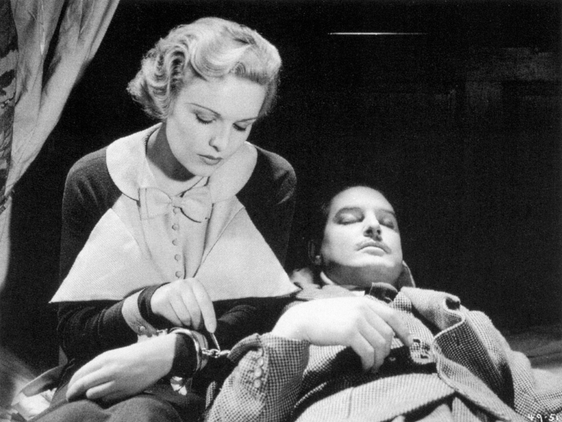 Madeleine Carroll in The 39 Steps with Robert Donat