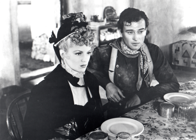 Stagecoach: Claire Trevor and John Wayne