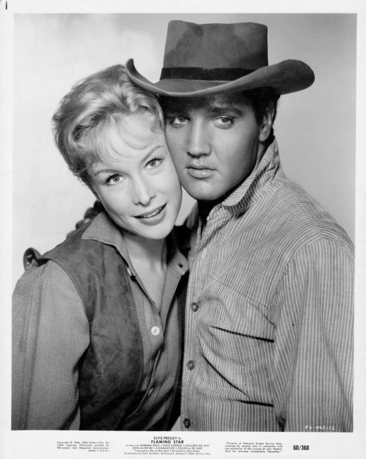 Barbara Eden and Elvis Presley, Flaming Star