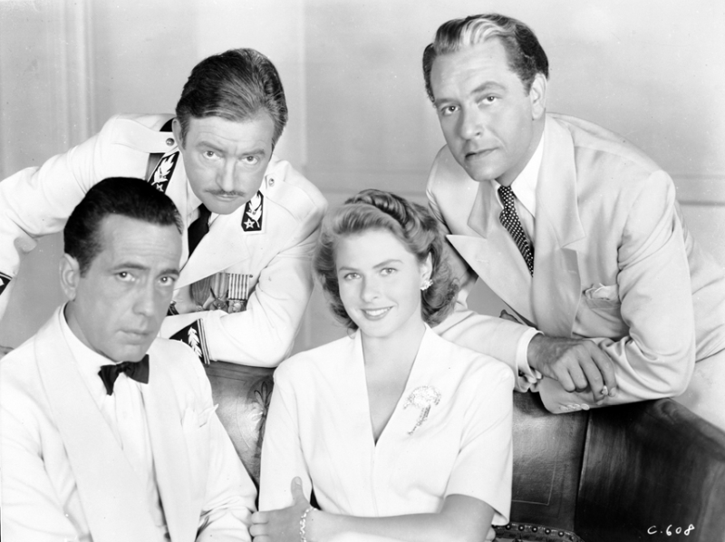 Ingrid Bergman, Claude Rains, Paul Henreid and Humphrey Bogart - Casablanca