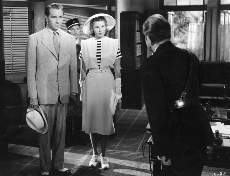 Paul Henreid, Ingrid Bergman, and Claude Rains