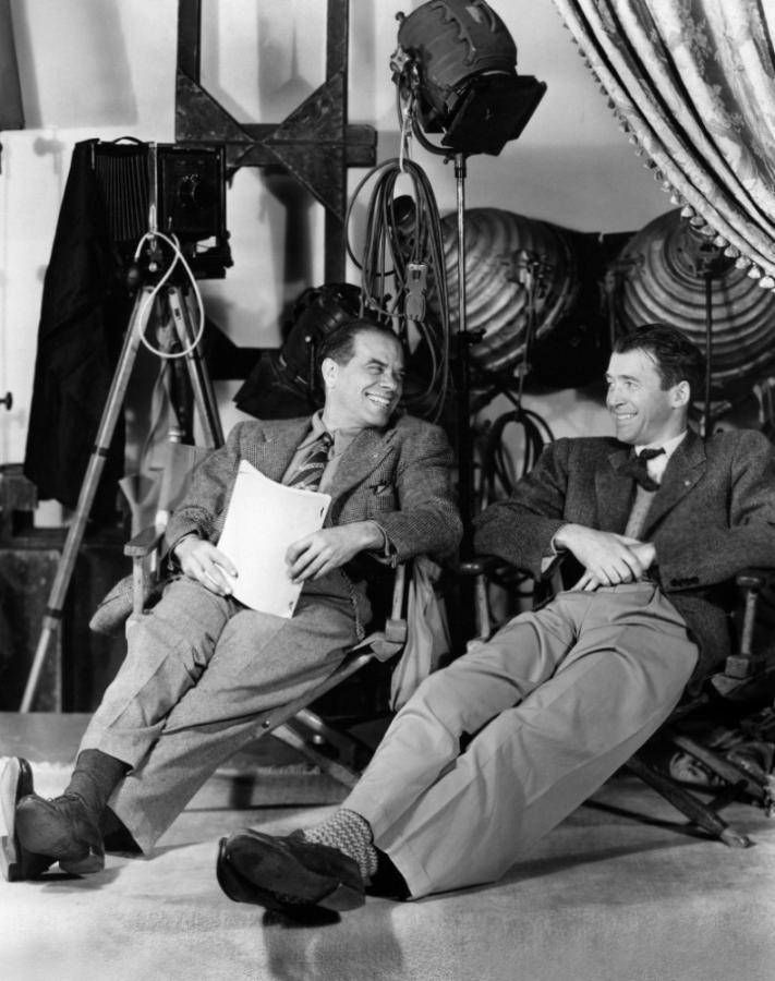 Frank Capra and James Stewart Behind the Scenes of It's a Wonderful Life