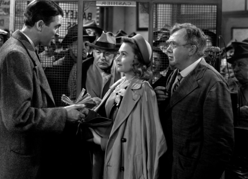 James Stewart, Donna Reed and Thomas Mitchell - It's a Wonderful Life