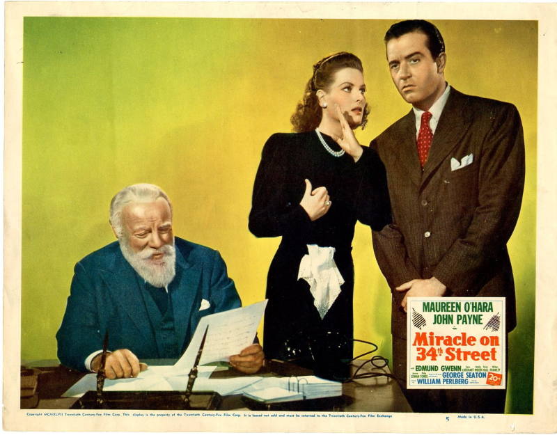 Lobby Card Miracle on 34th Street