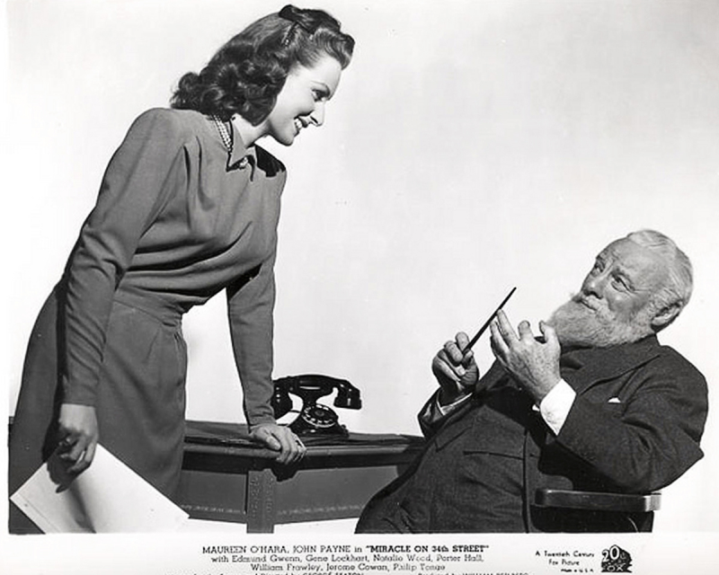 Maureen O'Hara and Edmund Gwenn, Miracle on 34th Street