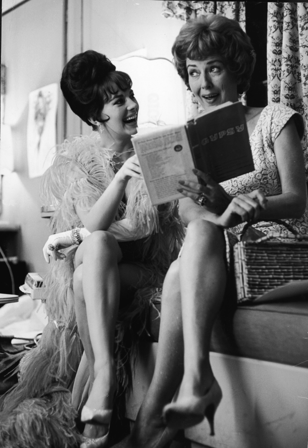 Natalie Wood and Gypsy Rose Lee, Behind the Scenes of Gypsy (1962)