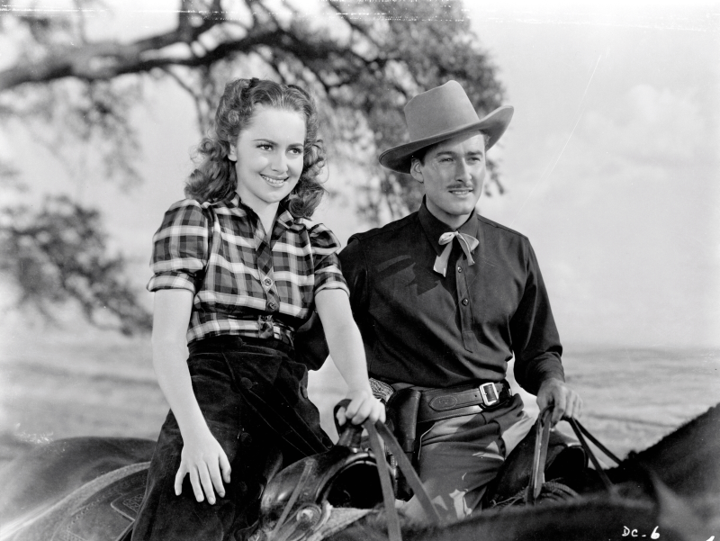 Olivia de Havilland and Errol Flynn, Dodge City