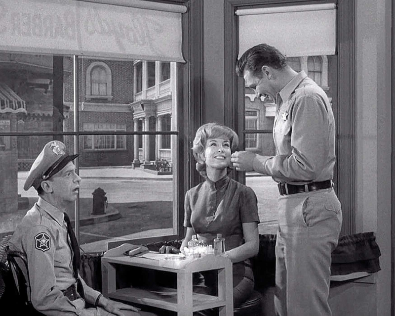 Barbara Eden on the The Andy Griffith Show