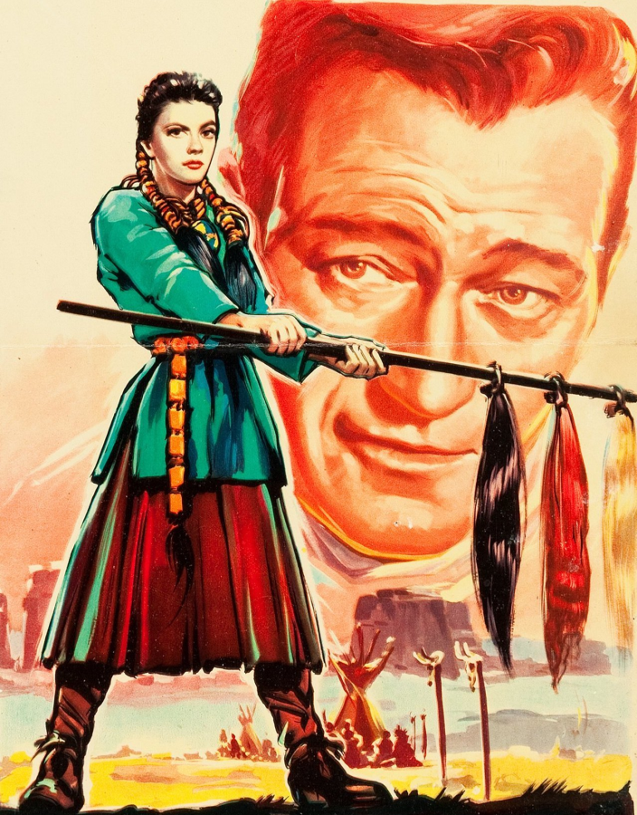 The Searchers: Natalie Wood and John Wayne