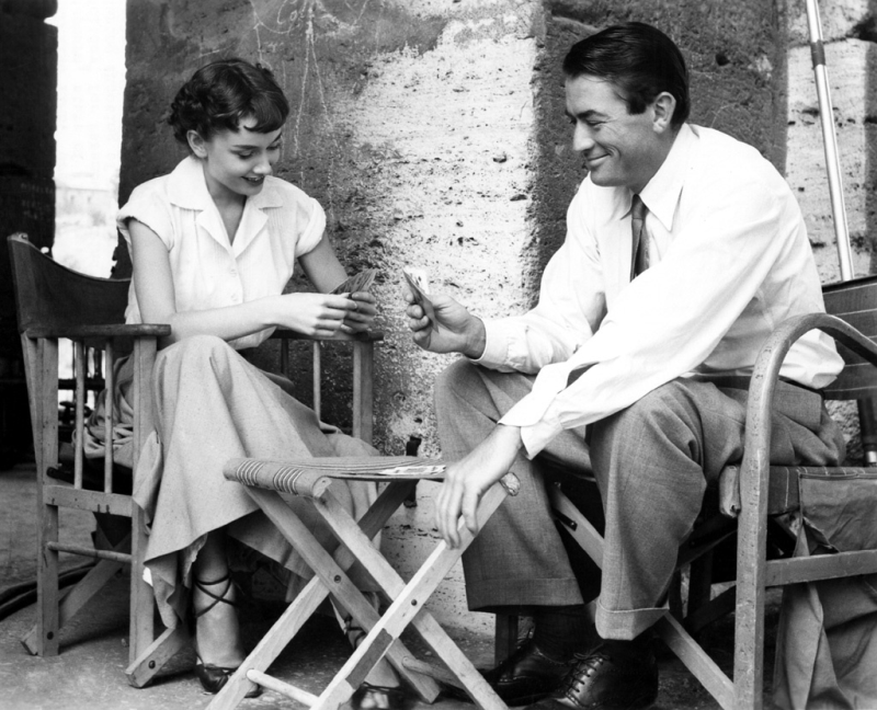 Audrey Hepburn and Gregory Peck - Roman Holiday, Behind the Scenes