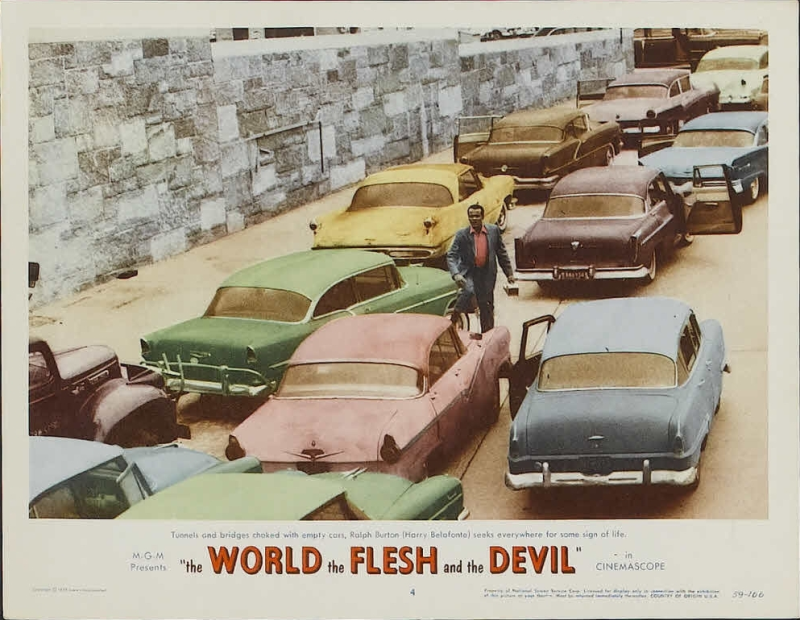 The World The Flesh and The Devil Lobby Card