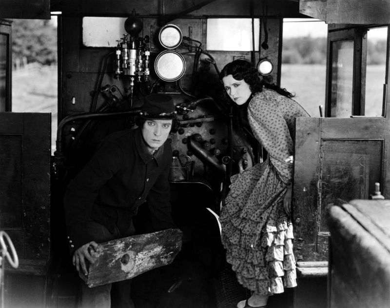 Buster Keaton and Marion Mack The General