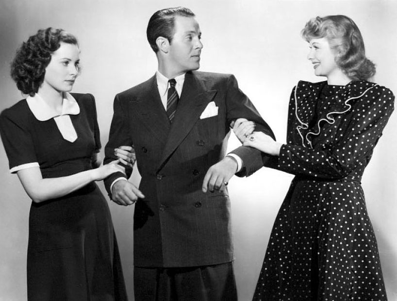 Dance, Girl, Dance Promotional Photo with Maureen O'Hara, Lucille Ball, and Louis Hayward