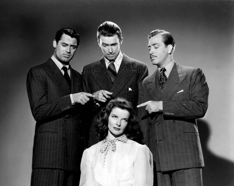Katharine Hepburn, James Stewart, Cary Grant, and John Howard 2