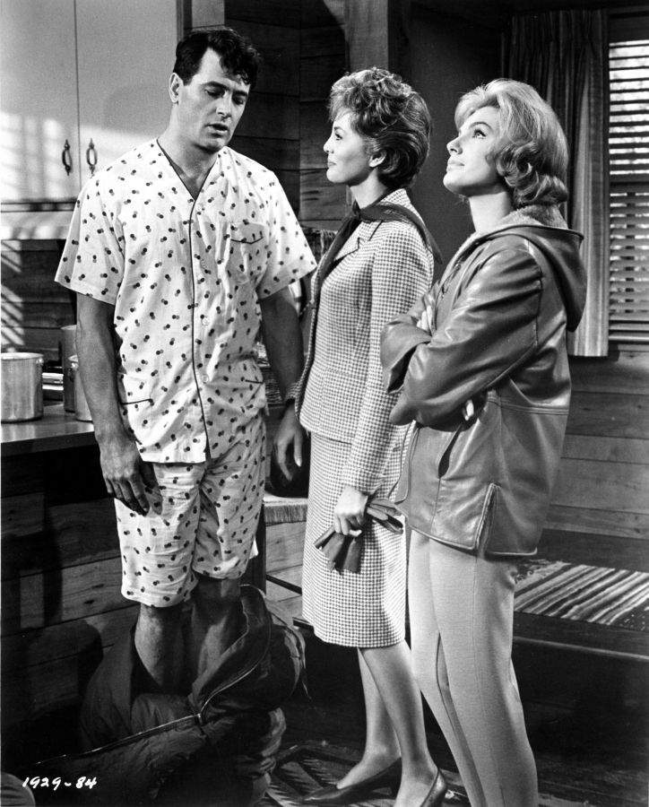 Rock Hudson, Charlene Holt, and Maria Perschy in Man's Favorite Sport