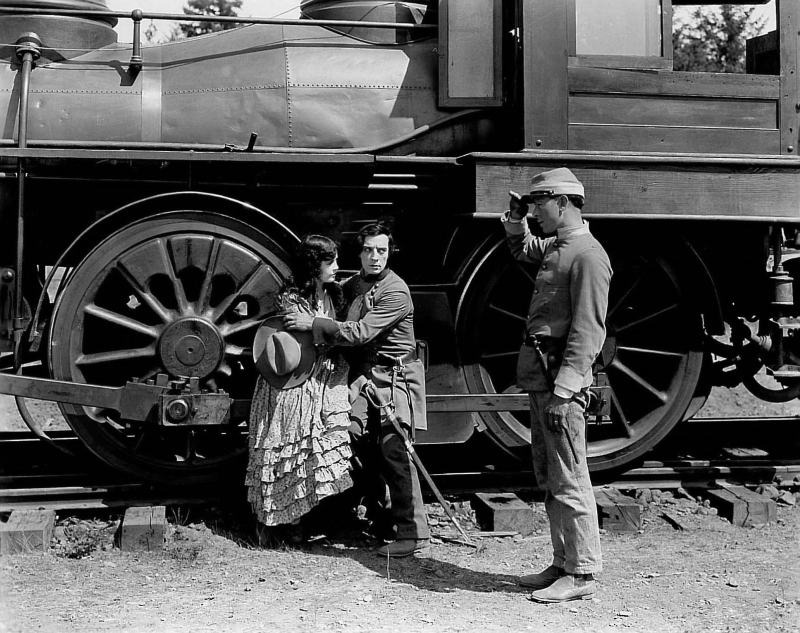 Buster Keaton and Marion Mack, The General