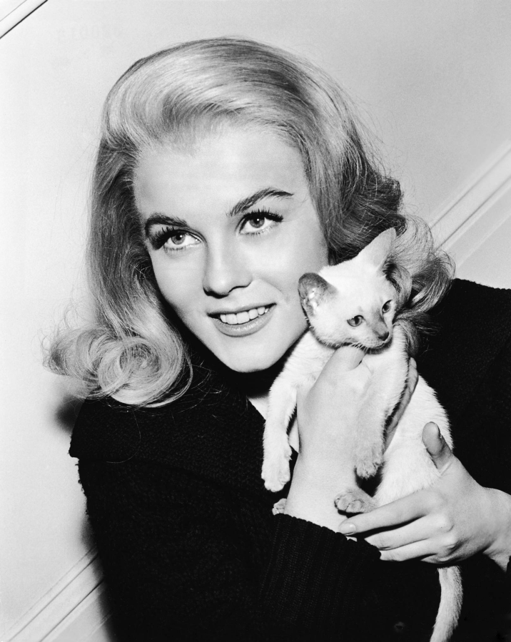 Ann-Margret and Kitten