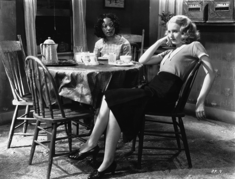 Barbara Stanwyck and Theresa Harris, Baby Face (1933)