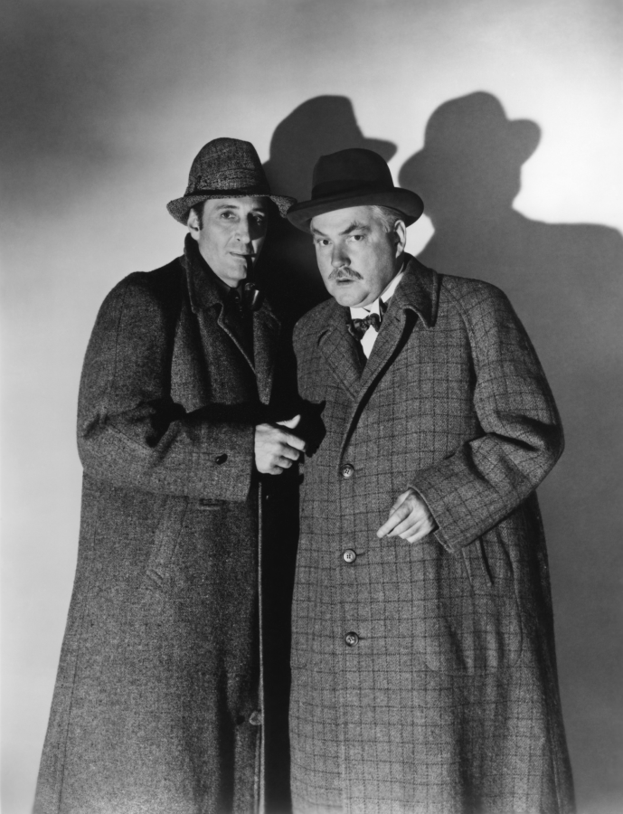 Basil Rathbone and Nigel Bruce, Terror By Night