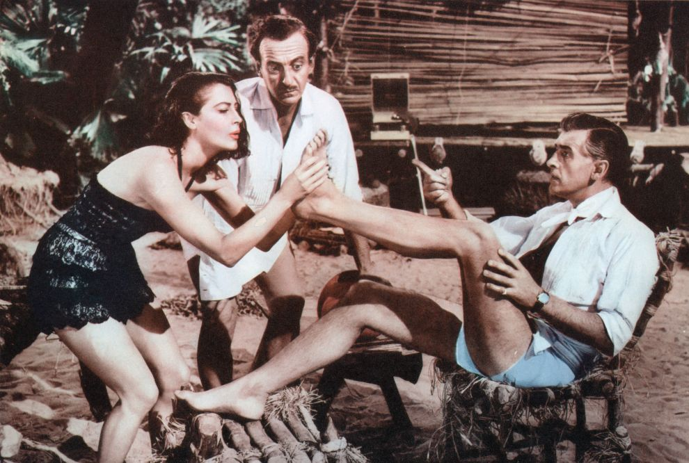 David Niven, Ava Gardner, and Stewart Granger in The Little Hut