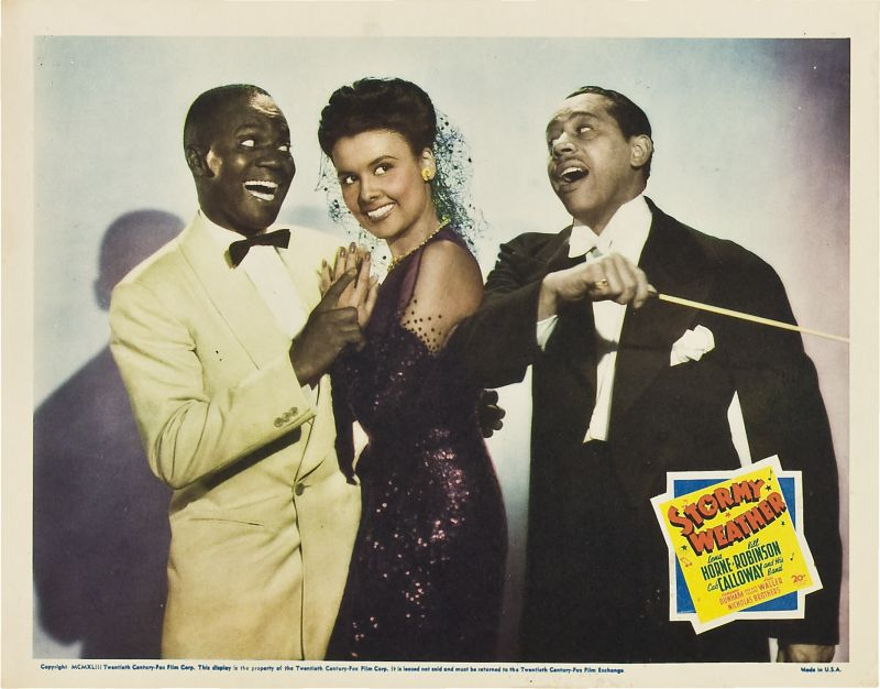 Lena Horne, Bill Robinson, and Cab Calloway, Stormy Weather Lobby Card