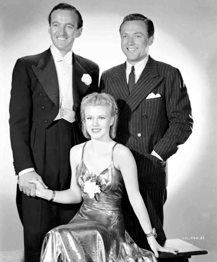 David Niven, Ginger Rogers, and Frank Albertson - Bachelor Mother