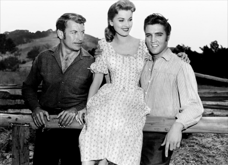 Elvis Presley, Richard Egan, and Debra Paget
