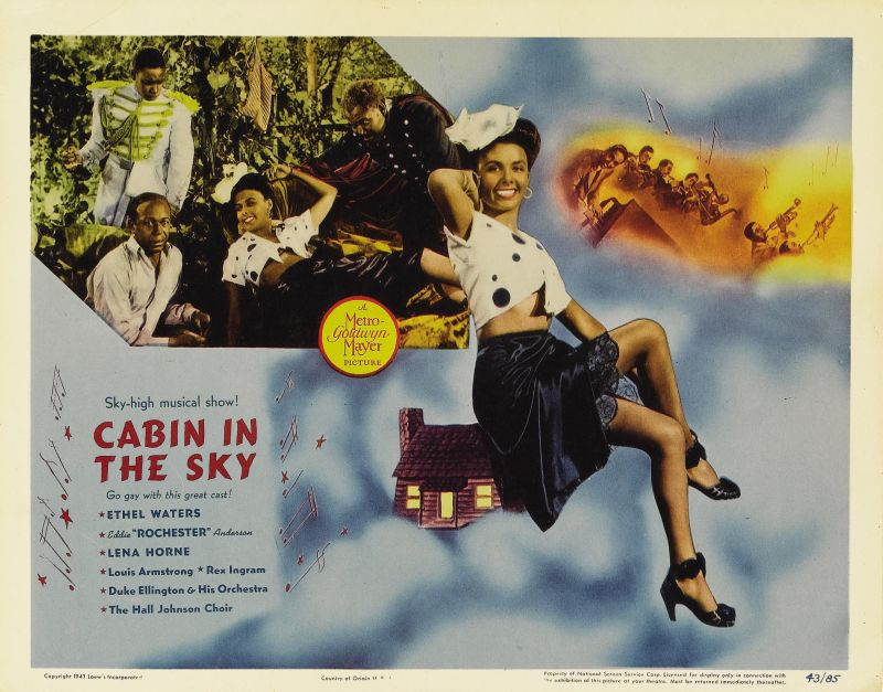 Cabin in the Sky Lobby Card with Lena Horne