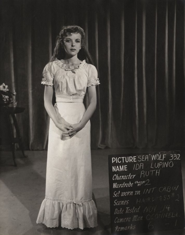 Ida Lupino, The Sea Wolf Pre-Production Photo