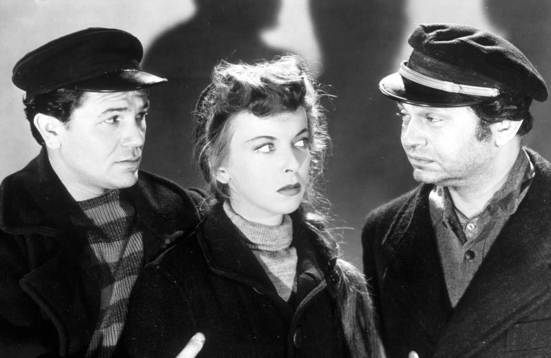 John Garfield, Ida Lupino, and Edward G. Robinson in The Sea Wolf