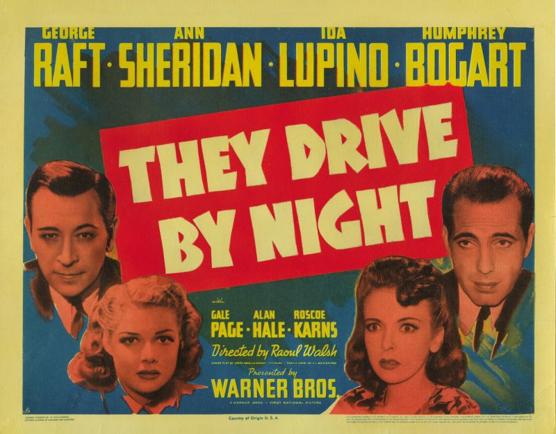 They Drive by Night Lobby Card