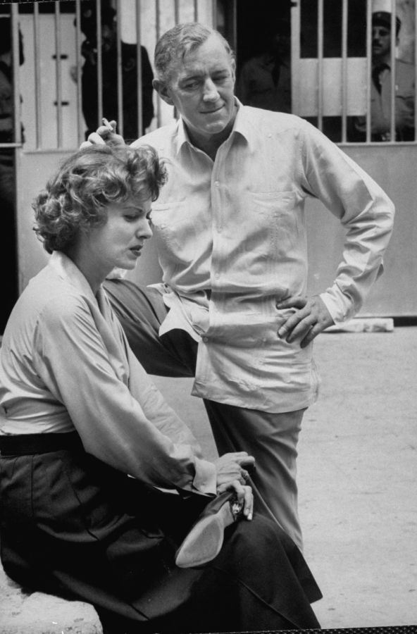 Behind the Scenes of Our Man in Havana - Maureen O'Hara and Alec Guinness